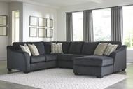 Eltmann Slate LAF Sofa with Corner Wedge, Armless Loveseat & RAF Corner Chaise Sectional