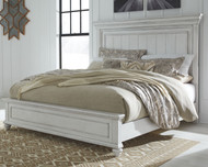 Kanwyn Whitewash California King Panel Bed