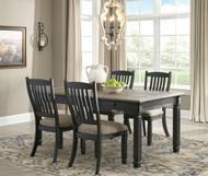 Tyler Creek Black/Gray 5 Pc. Rectangular Table & 4 Upholstered Side Chairs