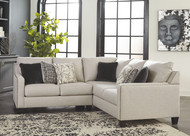 Hallenberg Fog LAF Loveseat & RAF Sofa with Corner Wedge Sectional