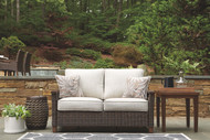 Paradise Trail Medium Brown Loveseat w/Cushion