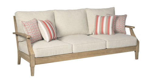 The Clare View Beige Sofa with Cushion sold at Outten ... on Clare View Beige Outdoor Living Room id=74119