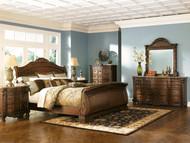 North Shore Dark Brown 7 Pc. Dresser, Mirror, King Sleigh Bed & 2 Nightstands