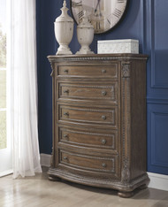 Charmond Brown Five Drawer Chest