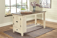 Bolanburg Two-tone Rectangular Dining Room Counter Table
