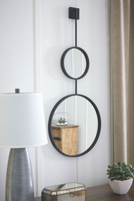 Brewer Black Accent Mirror