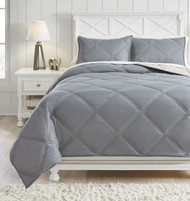 Rhey Tan/Brown/Gray Full Comforter Set