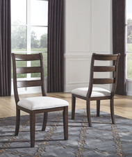 Adinton Reddish Brown Dining Upholstered Side Chair (2/CN)