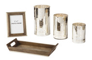 Dexton Brown with Silver Finish Accessory Set