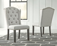 Jeanette Linen Dining Upholstered Side Chair (Set of 2)