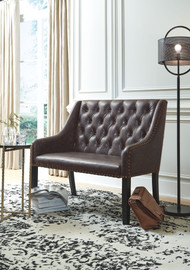 Carondelet Brown Accent Bench