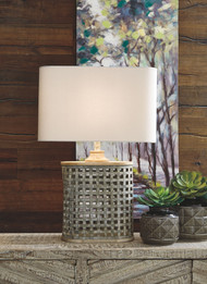 Deondra Gray Metal Table Lamp (1/CN)