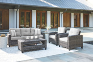 Cloverbrooke Gray Sofa/Chairs/Table Set (4/CN)