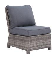 Salem Beach Gray Armless Chair w/Cushion (1/CN)