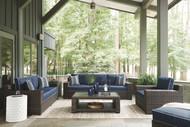 Grasson Lane Brown/Blue Lounge Set