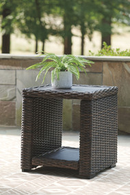 Grasson Lane Brown Square End Table