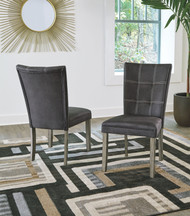 Dontally Two-tone Dining Upholstered Side Chair (Set of 2)