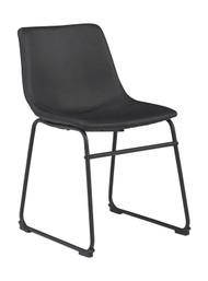 Centiar Black Dining Upholstered Side Chair (Set of 2)