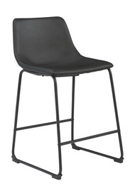 Centiar Black Upholstered Barstool (Set of 2)