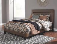 Adelloni Brown Queen Upholstered HDBD/FTBD/Roll Slats