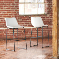 Centiar White Tall Upholstered Barstool (Set of 2)