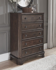Adinton Brown Five Drawer Chest