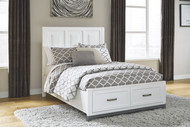Brynburg White Full Panel Bed