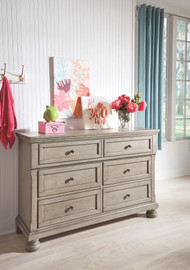 Lettner Light Gray Youth Dresser