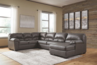 Aberton Gray 3-Piece Sectional with Chaise