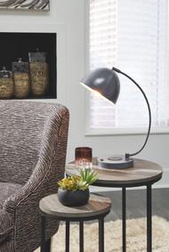 Austbeck Gray Metal Desk Lamp (1/CN)