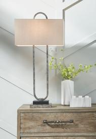 Bennish Antique Silver Finish Metal Table Lamp (1/CN)