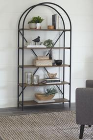 Galtbury Brown/Black Bookcase