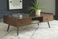 Calmoni Brown Rectangular Cocktail Table