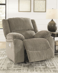 Draycoll Pewter Power Rocker Recliner