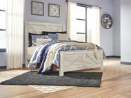Bellaby Whitewash Queen Crossbuck Panel Bed