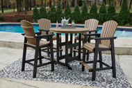 Fairen Trail Black/Driftwood 5 Pc. Dining Set with 4 Chairs
