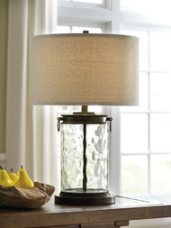 Tailynn Clear with Bronze Finish Glass Table Lamp