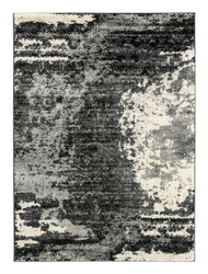Roskos Black with Gray Large Rug