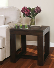 Watson Dark Brown Finish Square End Table