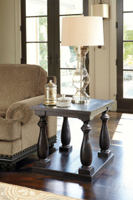 Mallacar Black Rectangular End Table