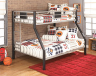 Dinsmore Black with Gray Twin with Full Bunk Bed