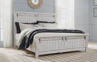 Brashland White California King Panel Bed