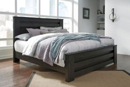 Brinxton Black King Poster Bed