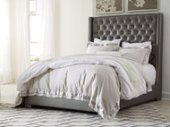 Coralayne Gray King Upholstered Bed