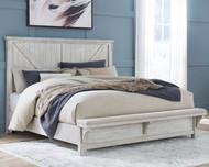 Brashland White King Panel Bed