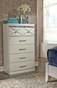 Dreamur Champagne Five Drawer Chest