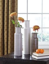 Deus Gray/White/Brown Vase Set (3/CN)