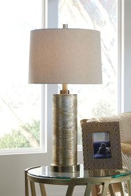 Farrar Gold Finish Glass Table Lamp (1/CN)