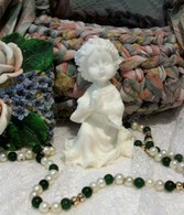 Silicone Little Girl Praying Soap Candle Mold