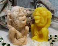 Silicone Ugly Green Man Troll Soap Candle Mold
